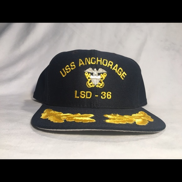 New Era Other - Vintage new era USS Anchorage LSD-36 SnapBack hat